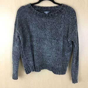 Aerie sweater gray soft chenille sweater